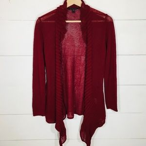 EILEEN FISHER Open Front Draped Cardigan Sweater S